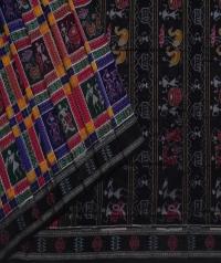 Multicolour handwoven UTKAL KALA RANEE cotton saree