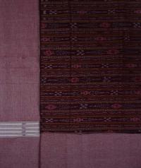 Maroon tinted maroon  handwoven cotton Suit piece