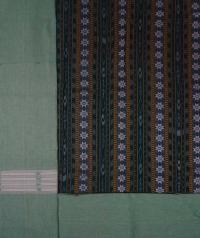 Green  mint green handwoven cotton suit piece