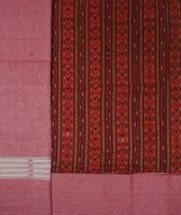 Brick red salmon red  handwoven coton suit piece