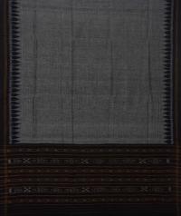 Black grey handwoven cotton suit piece