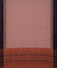 Melon orange black handwoven cotton suit piece