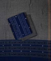 Blue grey  handwoven cotton suit piece