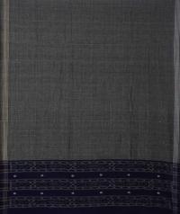 Navy blue grey handwoven cotton suit piece