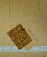 Fire yellow light yellow handwoven cotton suit piece