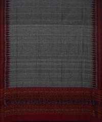 Maroon grey handwoven cotton suit piece