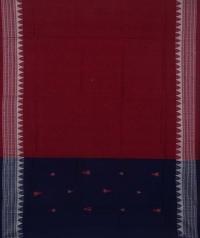 Navy blue maroon handwoven cotton suit piece