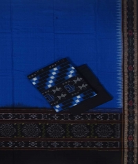 Blue black handwoven cotton suit piece
