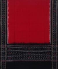 Red black handwoven cotton suit piece
