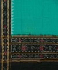 Green black handwoven cotton dupatta