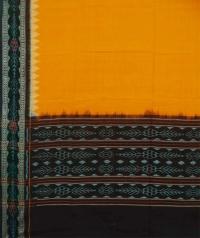 Yellow handwoven cotton dupatta