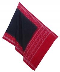 Black red handwoven cotton dupatta