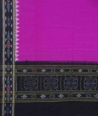 Magenta black handwoven cotton dupatta