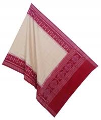 Brown red handwoven cotton dupatta