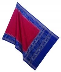 Red blue handwoven cotton dupatta