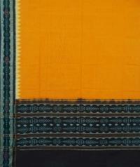 Yellow maroon handwoven cotton dupatta