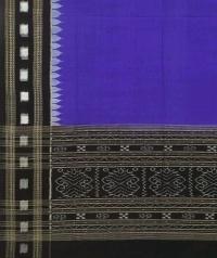 Blue black handwoven cotton dupatta