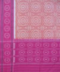 Brown pink handwoven cotton dupatta
