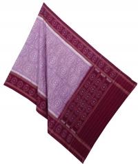 Lavender red handwoven cotton dupatta