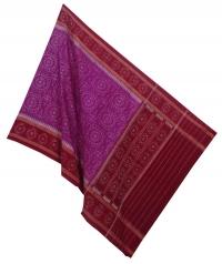 Magenta maroon handwoven cotton dupatta